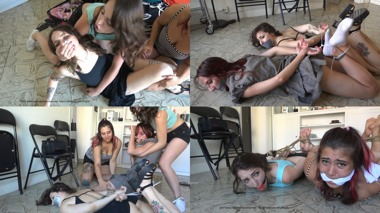 Liz Rainbow, Nala, Clementine & Minou: Tables Turned On Sexy Burglars