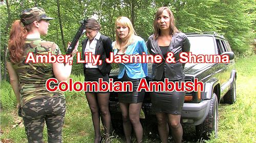 Lily, Amber, Jasmine & Shauna: Colombian Ambush