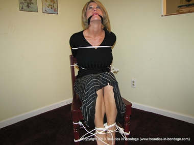 Gagged With Her Own Stockings