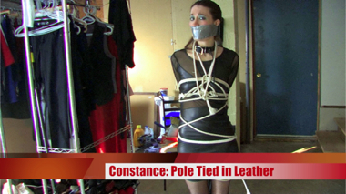 Pole Tied in Leather