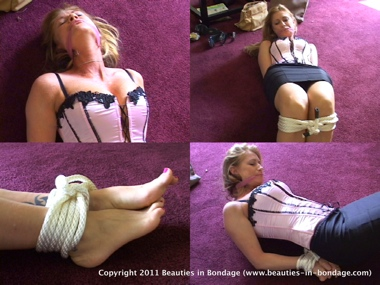 Restrained in a Pink Corset