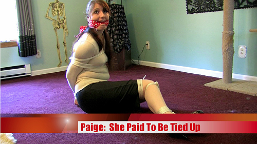 She Paid To Be Tied Up
