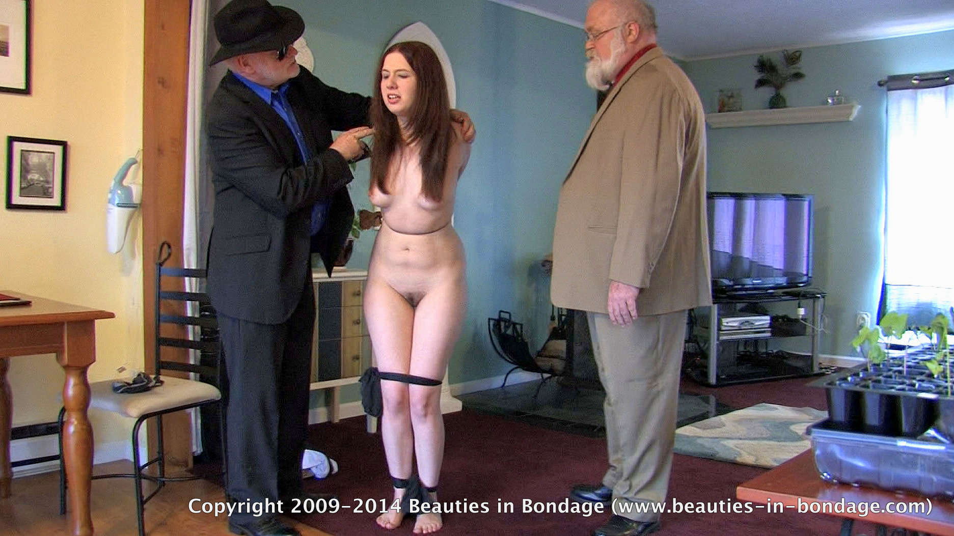 pantyhose stripped her bound her