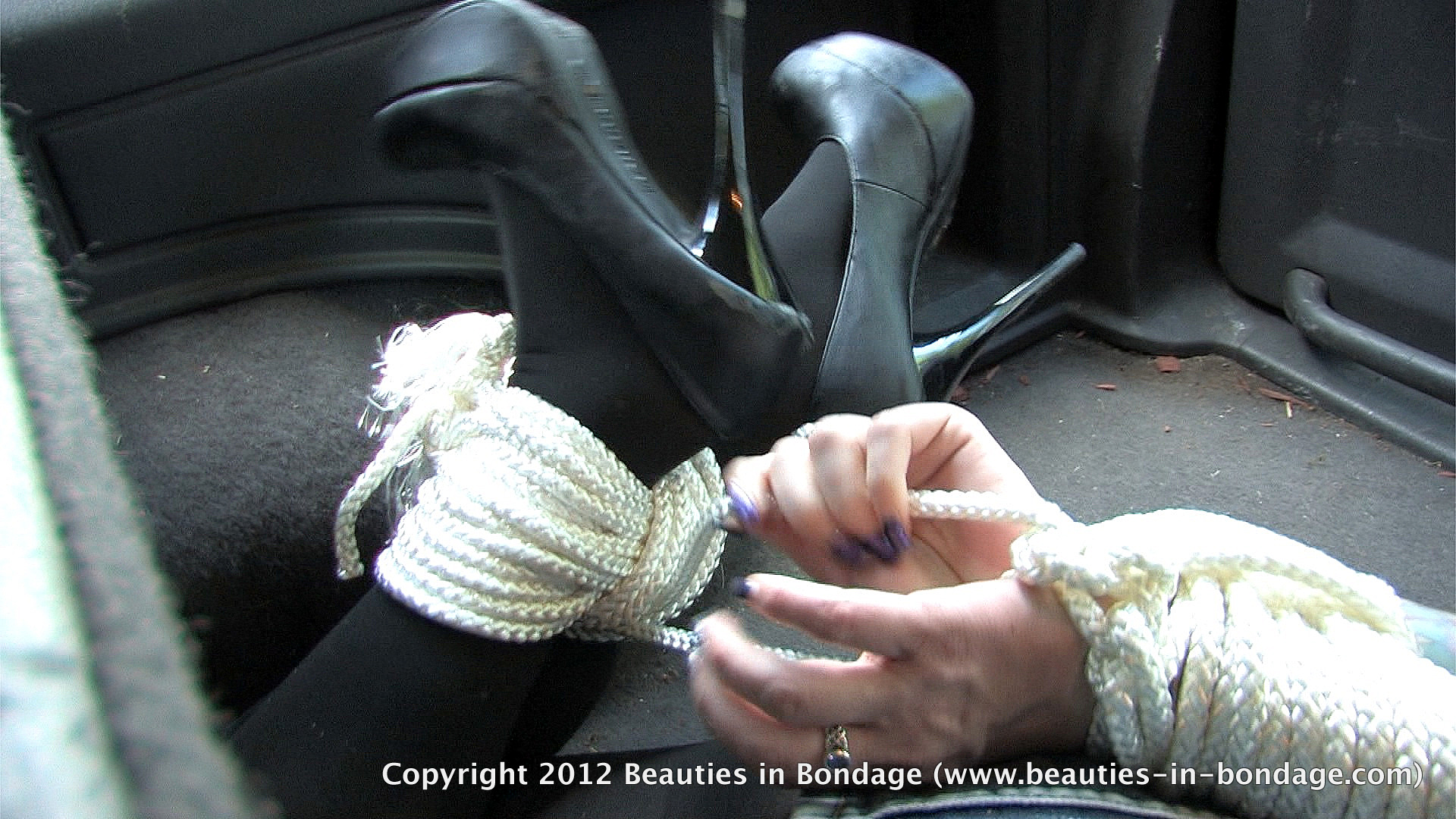 Damsel in distress bondage video very erotic!