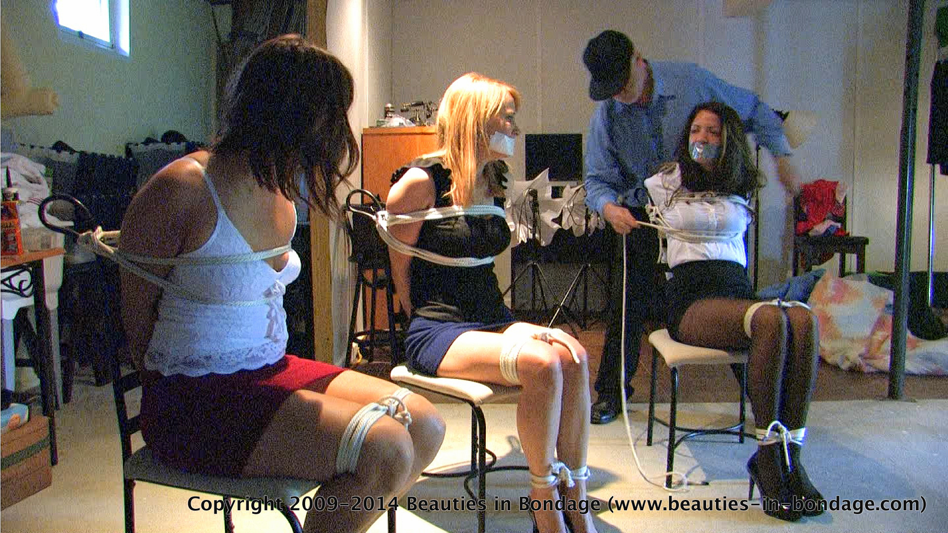 Two girls tied bondage xxx room gangbang
