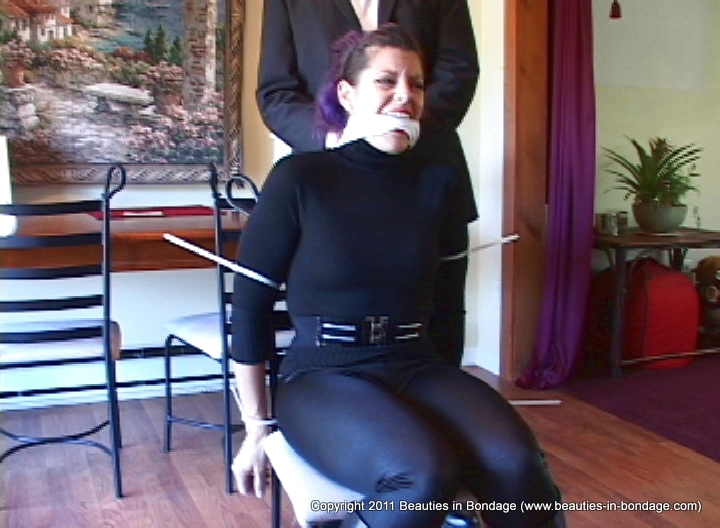 Girl bound and gagged in socks light as a 9