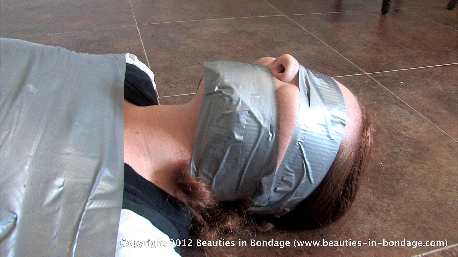 Blindfold bondage duct tape